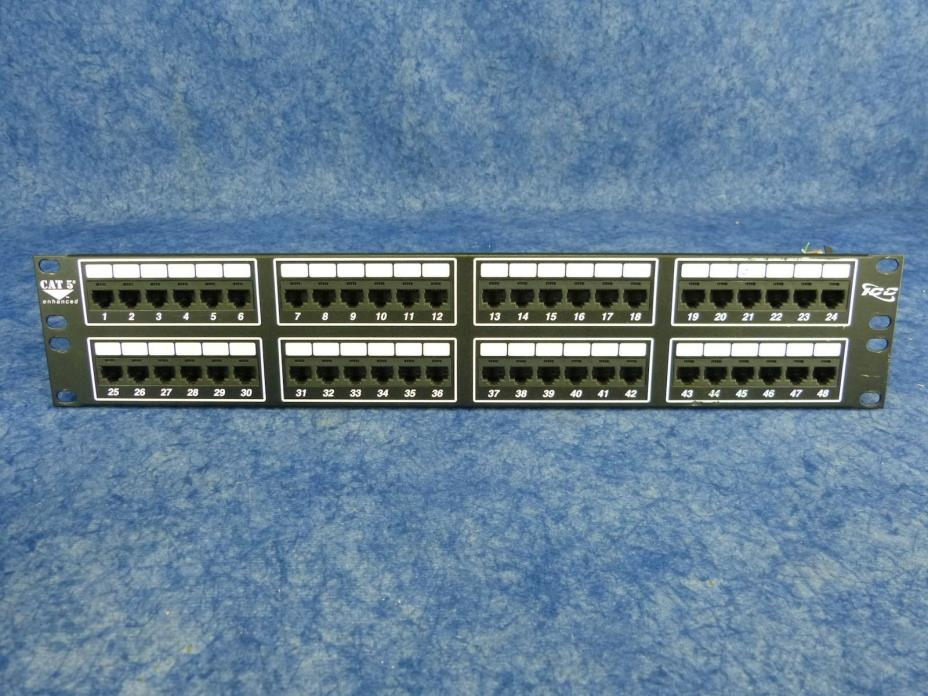 ICC Patch Panel Model: ICMPP0485E  48 port CAT5e
