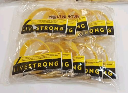 NEW! LOT OF 10 LiveStrong Nike Bracelet Arm Band Wrist Lance Armstrong YOUTH