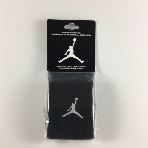 NIKE Jordan Jump Man Adult Unisex Black/Red Durable Wristbands 2 Pack 619352-010