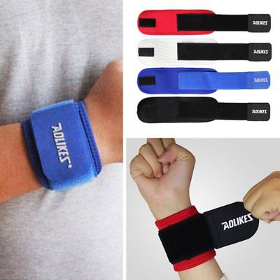 US Aolikes MEN Sport Sweatband Sweat Band Fitness Neoprene Wristband Wrist Band