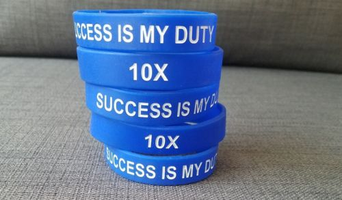 2 motivational wristbands - GC - Grant Cardone - Blue - Success is my duty - 10X