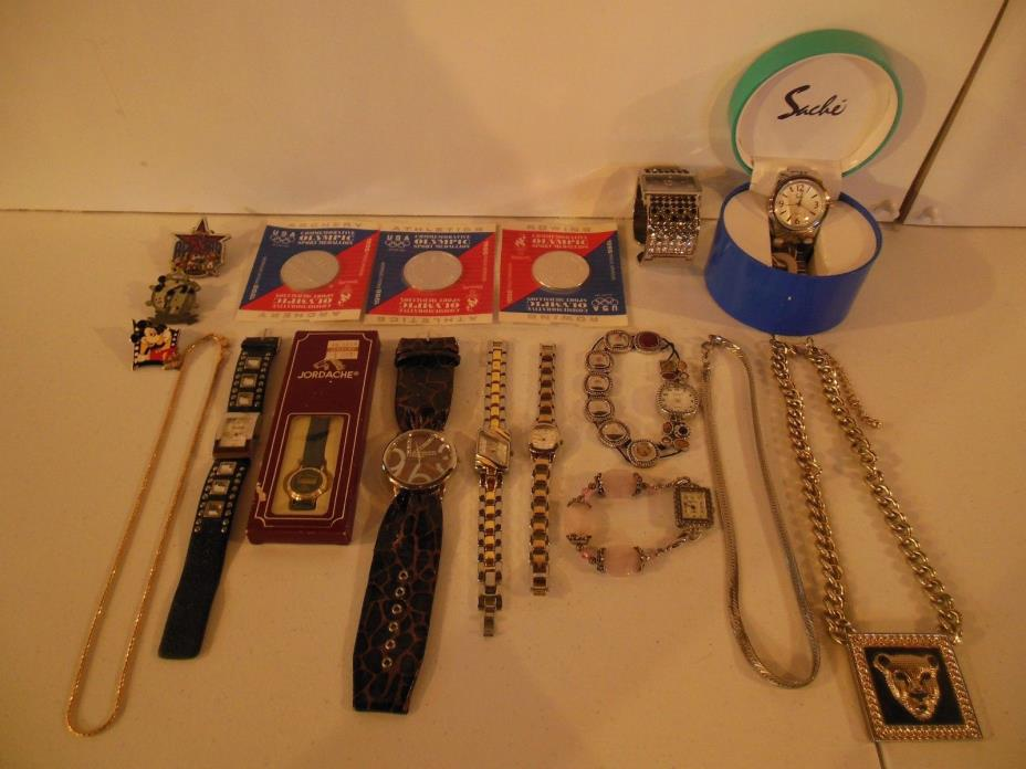 Assorted Watches, Chains & Collectibles
