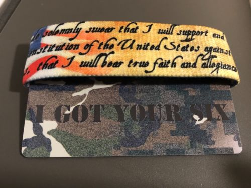 I Got Your Six Zox Strap Reversible Wristband Camouflage PTSD Awareness Military