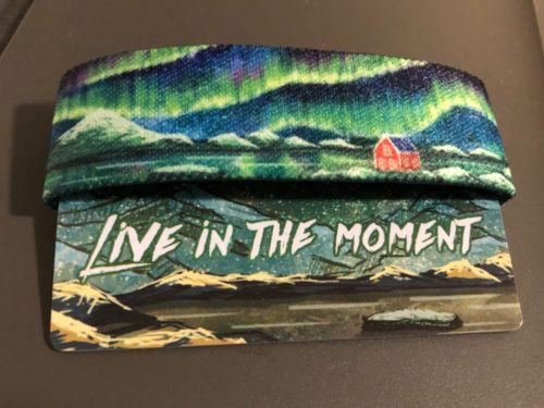 Zox Strap Reversible Wristband - Live In The Moment- New - Aurora Borealis