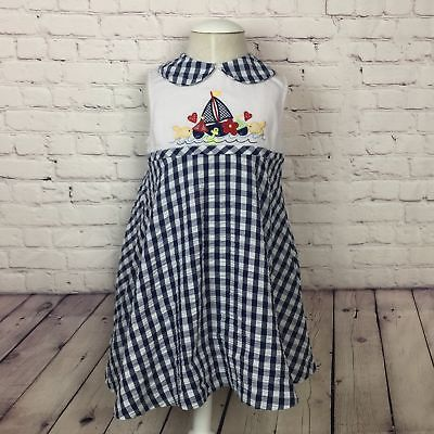 Gingham nautical dress with bloomers 13