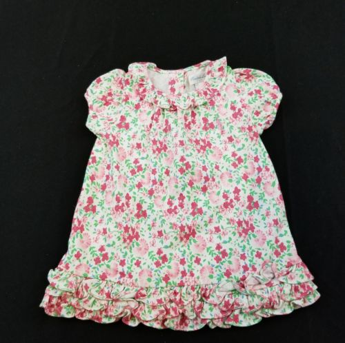 Ralph Lauren Baby Girl Size 3 Months Floral Ruffle Dress Spring Easter