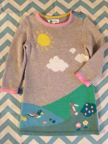 Baby Mini Boden 6-12m Bunny Sweater Easter Dress NWT Nordstrom