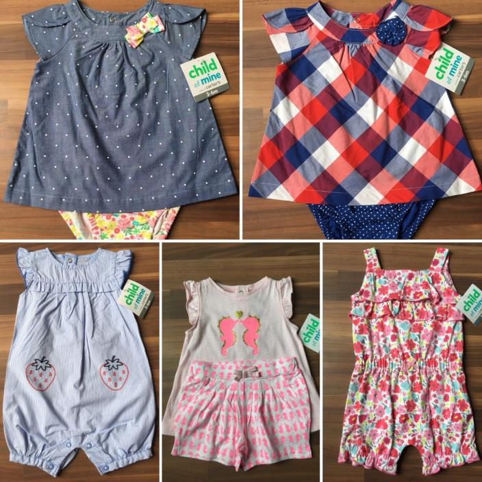 Carters Child of Mine NWT Girls 3-6 Month Bundle of 5 Spring Outfits ????