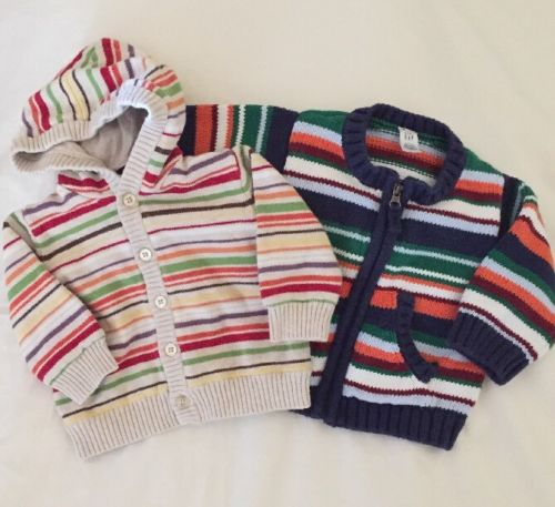 Baby Girl size 3-6 Months Lot GYMBOREE Striped Sweater Cardigan 3 - 6 Months