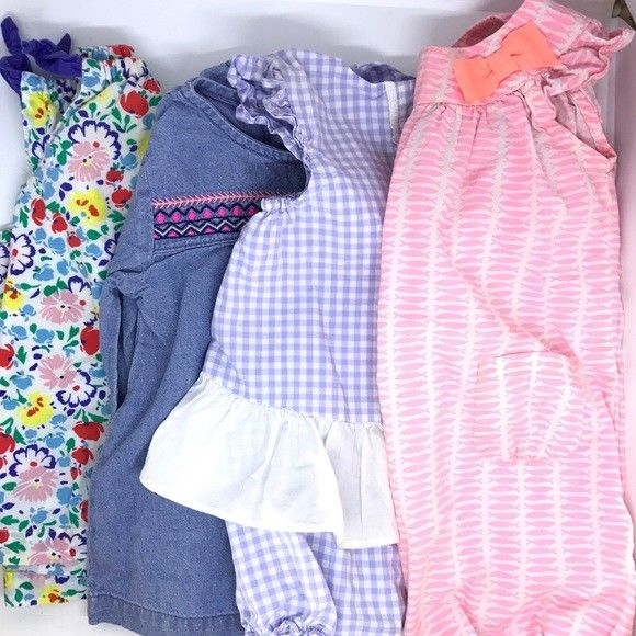 Bundle of 4 baby girl's tops all up to 12month- janie&jack and others