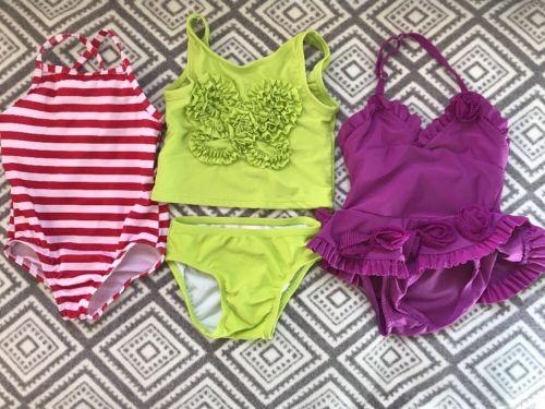 Koala Kids Mixed Lot Girls Swim Swimming Suits Sz 12-18 Mo Bathing Suit