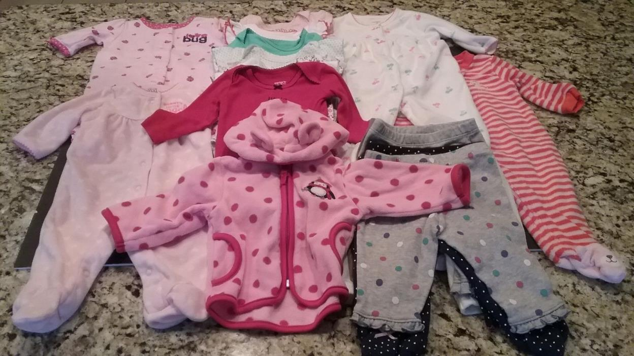 Carter's Baby Girls 19 pc Clothing Lot Size 3M