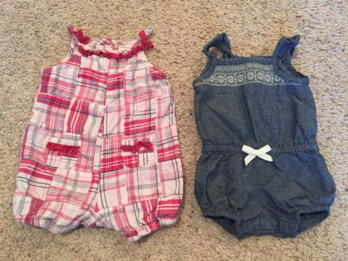 Set If Two Baby Girl Sun Suits Size 3 Months