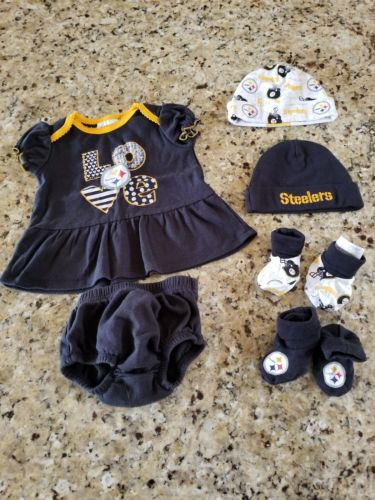 0-3 month baby girl Steelers clothing