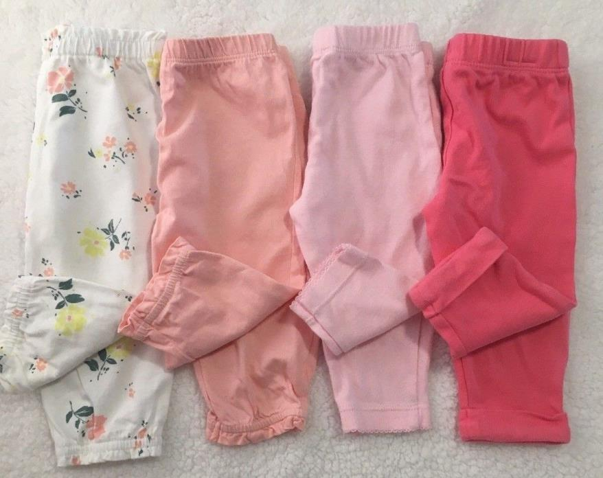 CARTER'S Baby Girl Size 6 Month Pants Lot