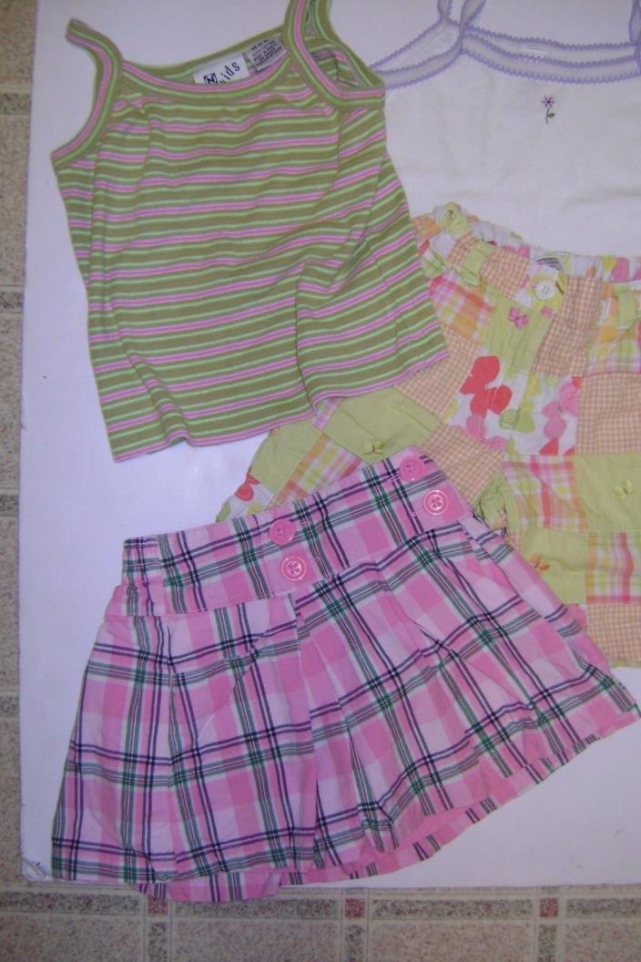 Girl's Gymboree Lot 3 Nordstrom Lot 1 Skort/Shorts/2 Tops