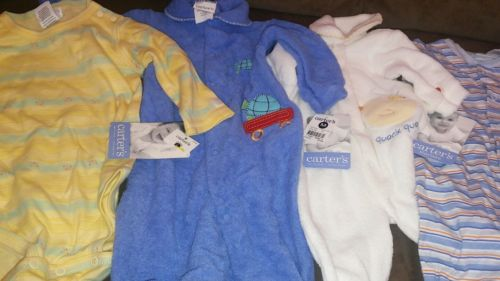 Lot Of. 4 Baby BOY  Bodysuits Infant 0-3/3-6/6-9/9 Months   CIRCO Carters