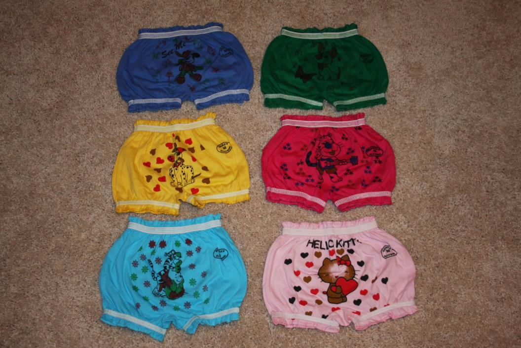 Lot of 6 Multi Colored Bloomers Shorts Baby Girls 6-12 m New NWOT Nikihita's M