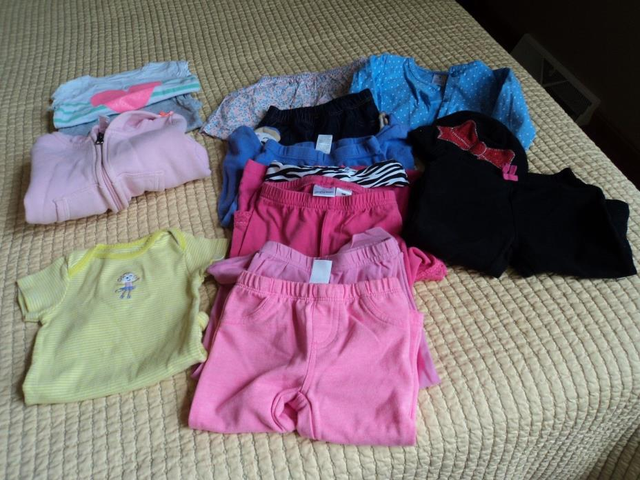 9 mo size mostly Carters long pants and tops.