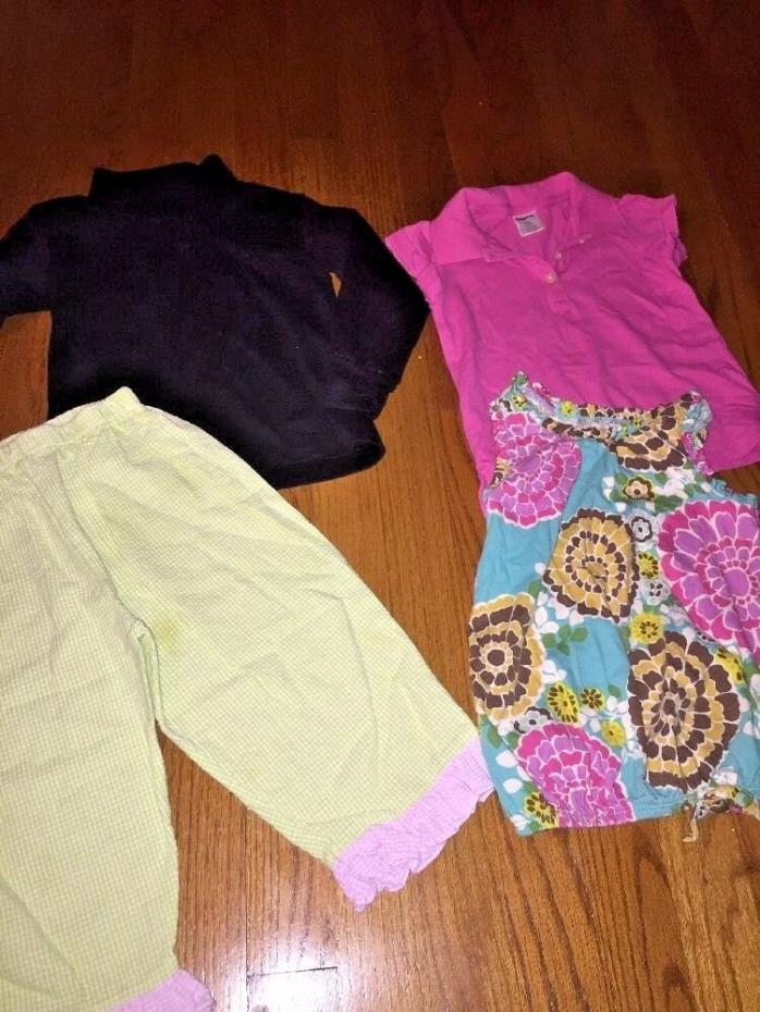 CREW CUTS J Crew GENUINE KIDS LE TOP Lot Set of 4 Shirt Blouse Pants Girls Sz 3T