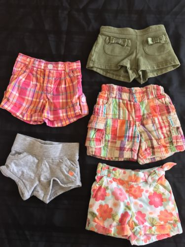 Lot of 5 Gymboree baby girl's shorts 3-6 Months
