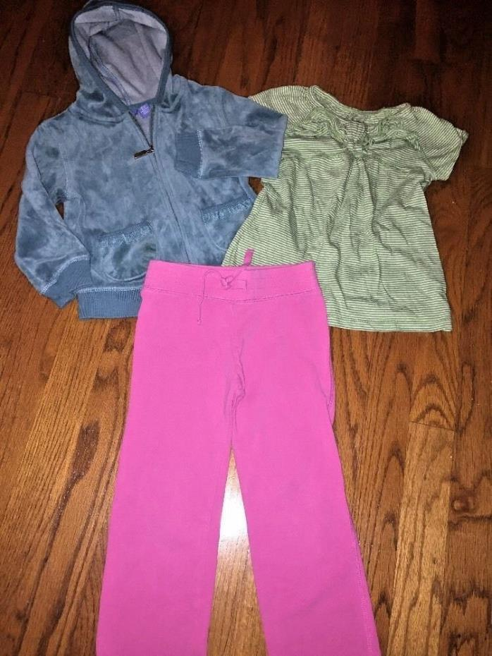 GREEN DOG OLD NAVY Hoodie Jacket Blouse Shirt Pants LOT SET of 3 Girls Size 3T