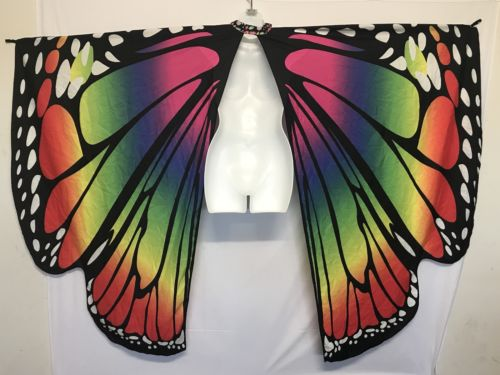 Butterfly Cape Scarf Monarch Rainbow Baby Pride Costume Photo Prop Colorful
