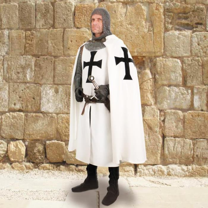 Medieval Teutonic Knight's Hooded Cape