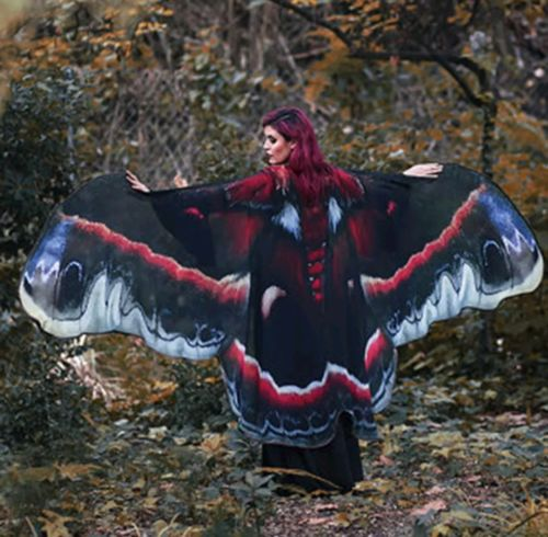 Butterfly Wing Cape Free Size Wicca Wiccan
