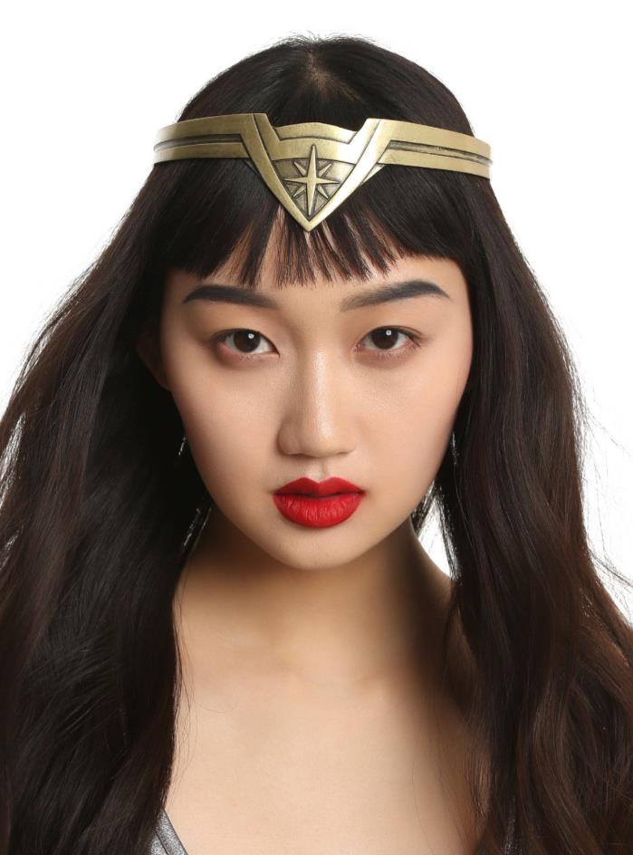 DC Comics WONDER WOMAN Movie Replica Tiara Crown Headpiece Burnished Gold NEW