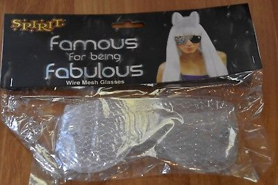 Spirit Famous for being fabulous wire mesh glasses costume