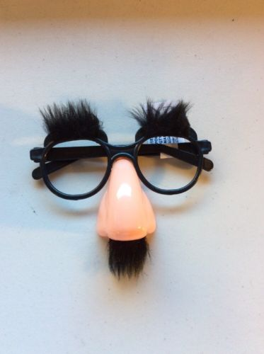 Hot Disguise Moustache Glasses Specs Halloween Party Fancy Funny Dress Hen Nose