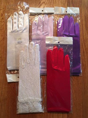 Women's Satin Gloves Small