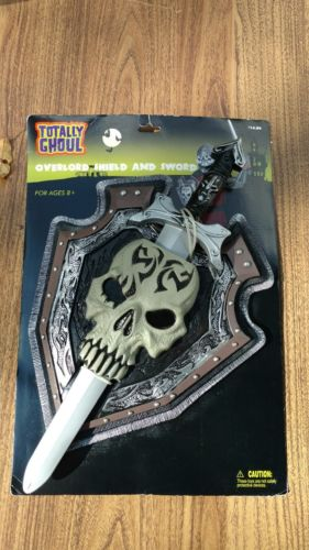 Overlord Skull Shield and Sword Weapon War Ancient Theme Party Halloween Costume