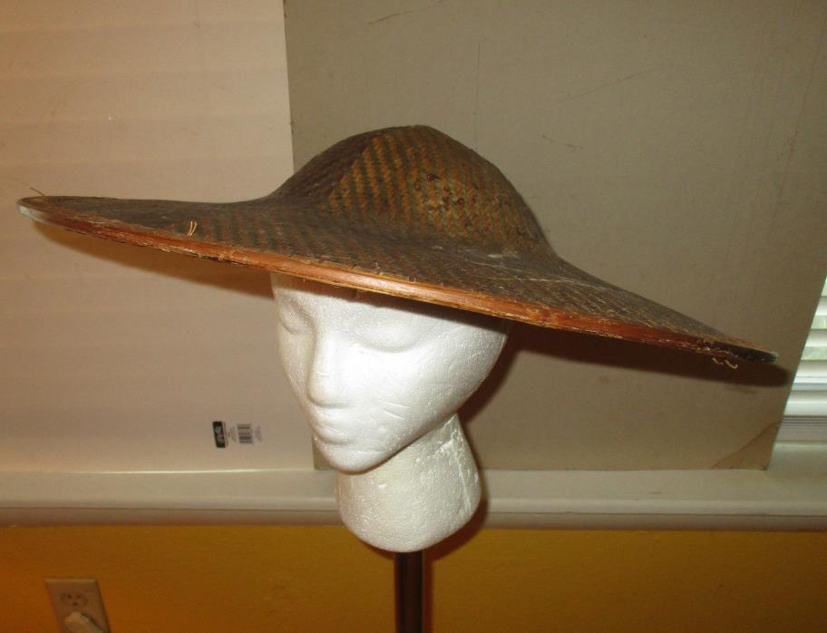 Vintage Asian Style Rice Padyy Hat