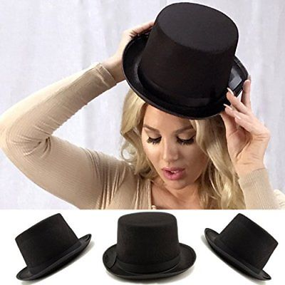 Adorox Sleek Felt Black Top Hat Fancy Costume Party Accessory 1 Hats Headgear