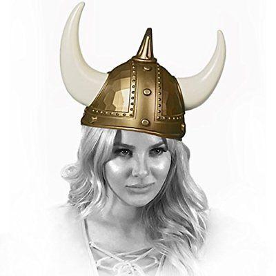 Adorox Adult Viking Warrior Horns Plastic Hat Helmet Unisex Costume Accessory