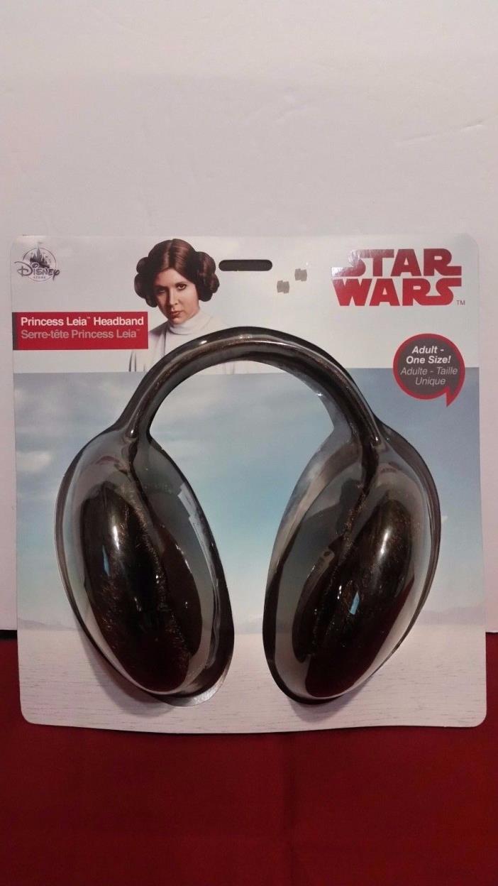 NEW STAR WARS PRINCESS LEIA HEADBAND (Disney Store) ADULT