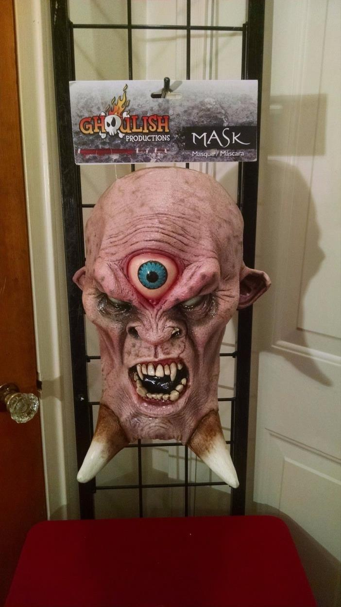 Cyclops Evil Scary Ghoul Monster Horror Greek Mythology WOW Sinbad Latex Mask