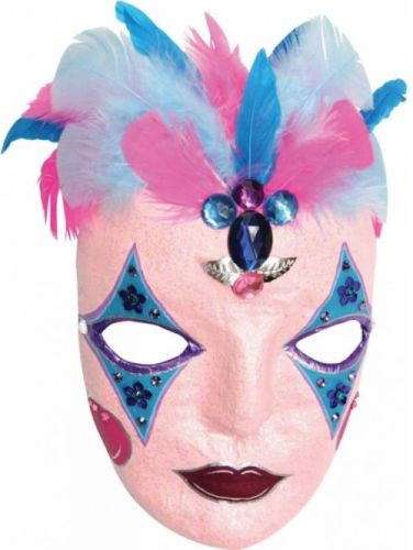 Paper Mache Mask, Pack Of 12