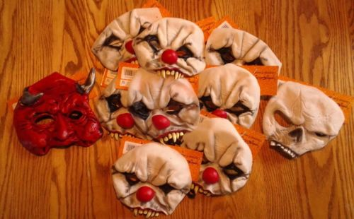 Lot of 10 Chinless crazies latex masks, nwt