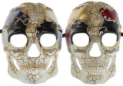 AGED FINISH MASQUERADE MASK - Skull Costume - VENETIAN