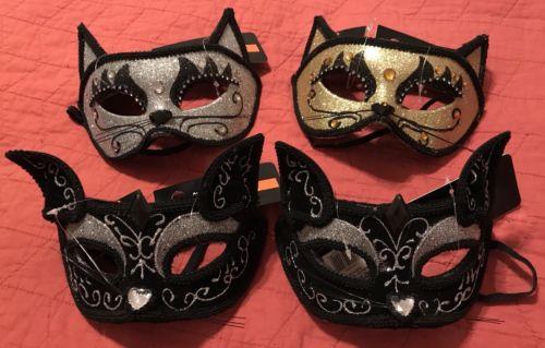4 Mardi Gras Masquerade Venetian Fancy Animal Lace Masks