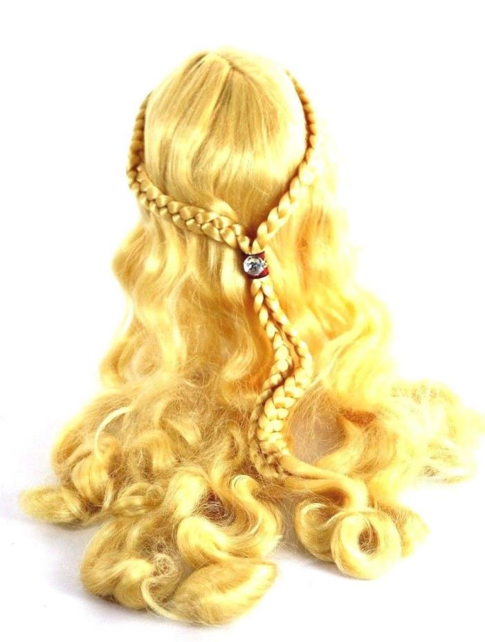 Renaissance Girl Costume Wig Adult Womens Medieval Braids Wrap