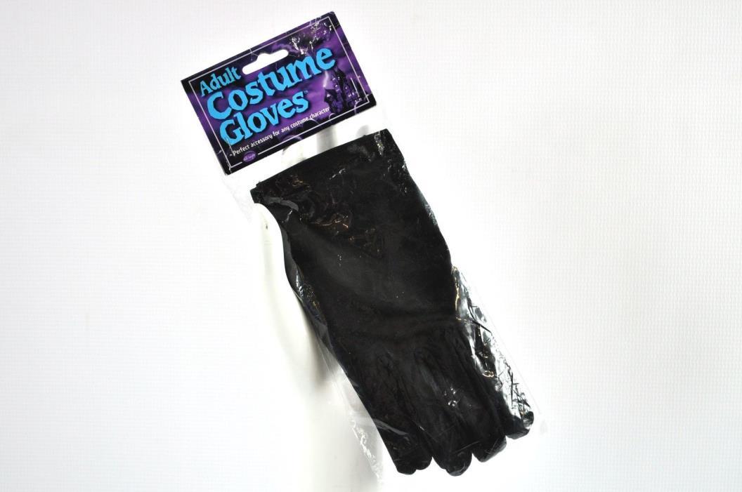 Fun World Adult Size Black Wrist Gloves Costume Accessory Halloween Dress Up