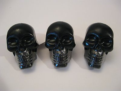 Plastic Huge Gothic Punk Black Skull Lip Gloss Costume Jewelry Goth Ring