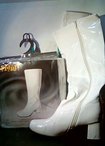 Spirit halloween white gogo boots size large(9)