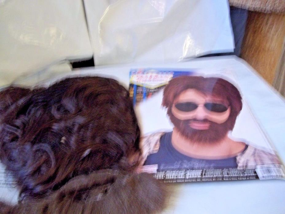 Wig Men's Brown Wig and Beard with Moustache  Vegas Hero Forum Costume 73472
