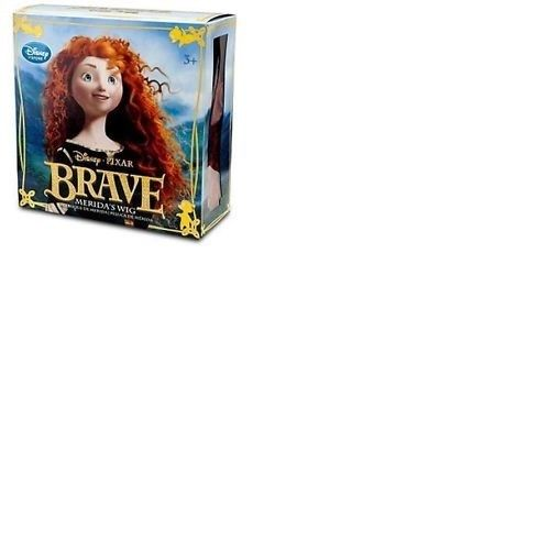 Authentic NEW Disney Store MERIDA THE BRAVE Girl Wig Red Hair Halloween Costume