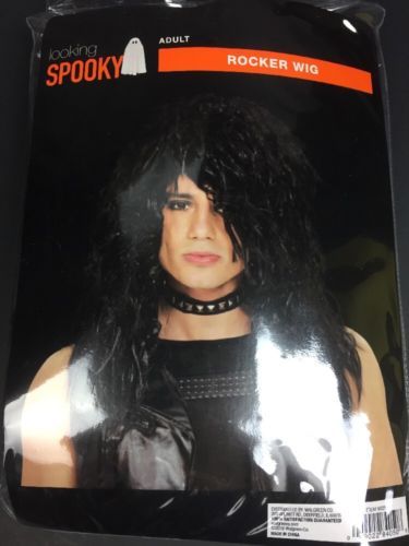 Rocker Wig Black-adult wig one size fits most - HALLOWEEN New